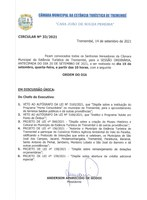Pauta da 30ª Sessão Ordinária - 15-09-2021