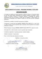 Adjudicação - Carta Convite 02-2018 - (Proc. Adm. 075-2018)