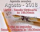 Agenda Sessões Agosto 2018