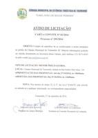 Aviso de Licitação Convite 02-2016 - Processo 259-2016