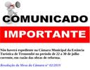 Comunicado Importante – Suspensão de Expediente no período de 22 a 30 de julho corrente.