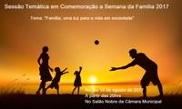 CONVITE: Sessão Temática em comemoração a Semana da Família