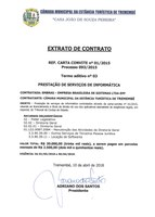 Extrato de Contrato - Prestação de Serviços de Informática