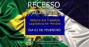FIM DO RECESSO PARLAMENTAR MUNICIPAL