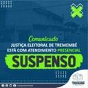 Justiça Eleitoral de Tremembé está com atendimento presencial suspenso