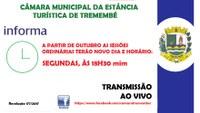NOVO DIA E HORÁRIO SESSÃO ORDINÁRIA