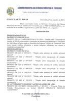 Pauta da 111ª Sessão Ordinária - 30-09-2019