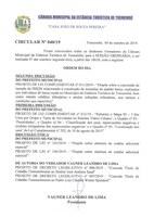 Pauta da 112ª Sessão Ordinária - 07/10/2019