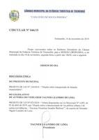 Pauta da 118ª Sessão Ordinária - 18/11/2019