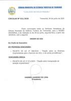 Pauta da 140ª Sessão Ordinária - 08/06/2020