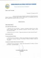 Pauta da 145ª Sessão Ordinária - 10/08/2020