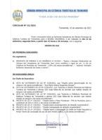 Pauta da 29ª Sessão Ordinária - 13-09-2021