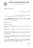 Pauta da 64ª Sessão Ordinária e 20ª Sessão Extraordinária