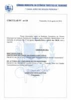 Pauta da 66ª Sessão Ordinária - 27/08/2018