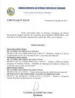Pauta da 91ª Sessão Ordinária - 08/04/2019