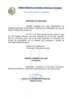 Portaria nº 026/2020 - Altera data da 138ª Sessão Ordinária