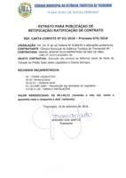 Retificação e Ratificação de Contrato