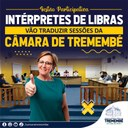Sessões da Câmara terá intérprete de libras