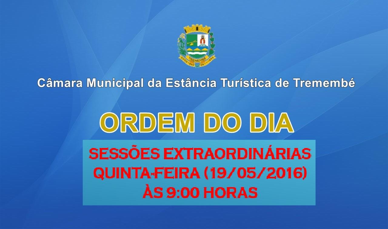 Sessões Extraordinárias - Revisão Anual  da Remuneração do Funcionalismo Público Municipal
