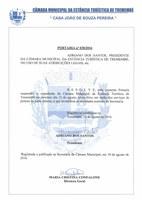 SUSPENSÃO DO EXPEDIENTE DA CÂMARA - SEXTA-FEIRA DIA 12 DE AGOSTO