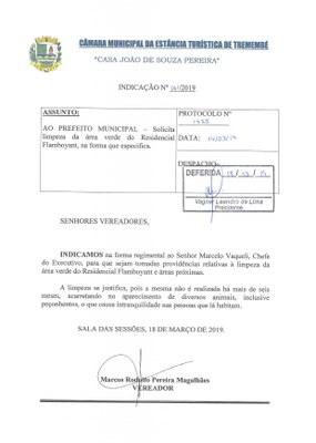 Indicação n° 061-19 - Marcos Rodolfo