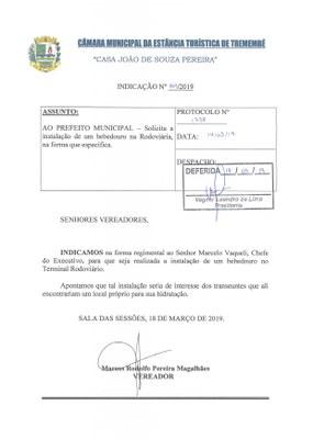 Indicação n° 064-19 - Marcos Rodolfo