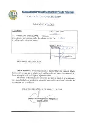 Indicação n° 066-19 - Marcos Rodolfo