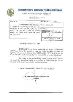 Indicação n° 068-19 - Marcos Rodolfo