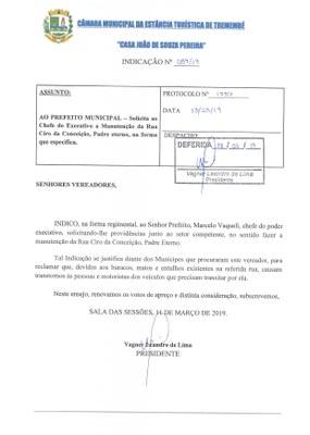 Indicação n° 059-2019